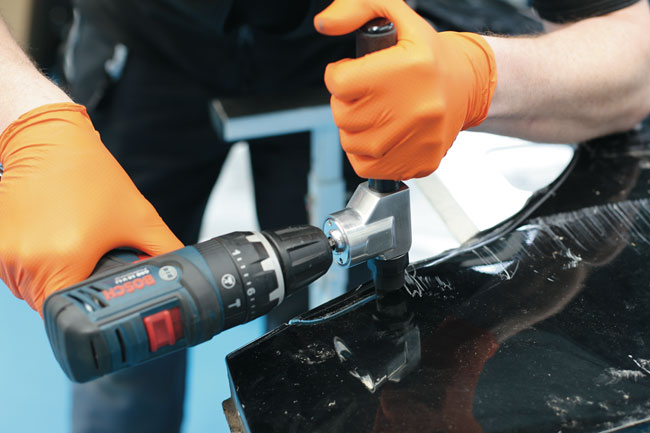 ~/items/xlarge/Insitu3 image of Laser Tools | 7693 | Sheet Metal Nibbler - Cordless Drill Attachment