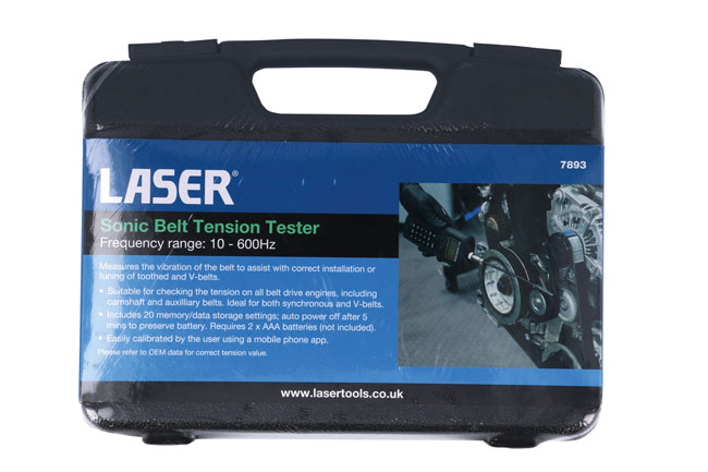 ~/items/xlarge/Packaging image of Laser Tools | 7893 | Sonic Belt Tension Tester
