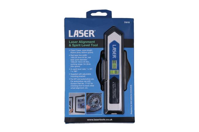 Laser Tools 7910 Laser Alignment & Spirit Level Tool