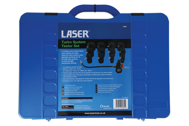 Laser Tools 7981 Turbo System Tester Set