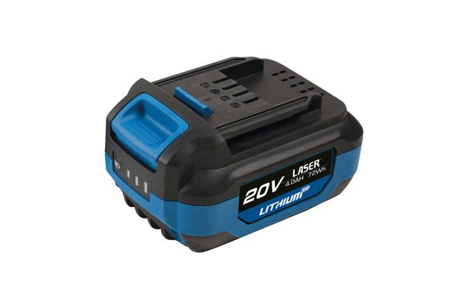 8007 20V 4.0Ah Li-ion Battery 'One Battery Powers All'