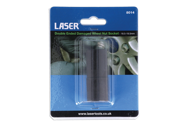 Laser Tools 8014 Double Ended Damaged Wheel Nut Socket 18.5-19.5mm