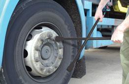 Wheel Brace - Heavy duty in use