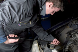 Timing Belt Fitting Tool in use