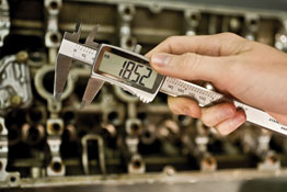 Digital Vernier Caliper with Extra Large Display in use