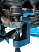 Ball Joint Remover Set 3pc in use