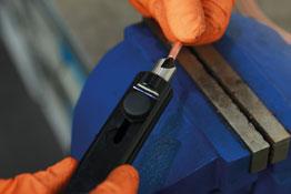 Pipe Deburring Tool in use