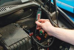 Digital Display Circuit Tester in use