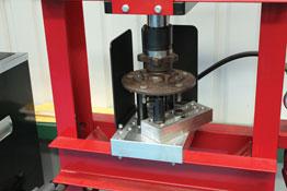 Workshop Press Support Block - 50 Tonne in use