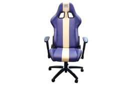 Product Image of Laser Tools Laser Tools Racing Chair - Blue/White stripe Part No. 6654