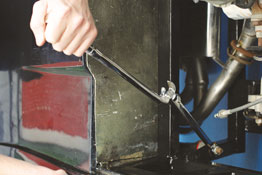 Spanner Extension Wrench in use