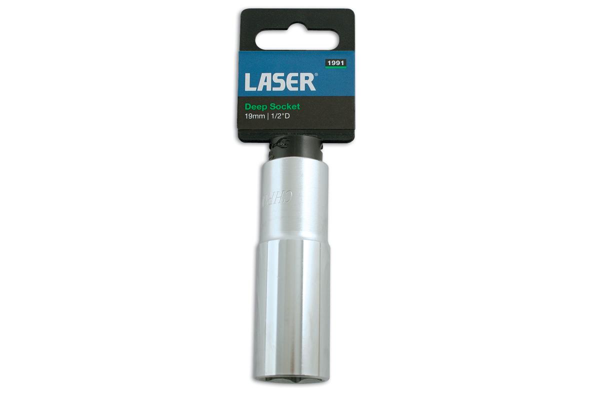 """Laser Tools 1609 Deep Socket 1//2/""""D 16mm"""