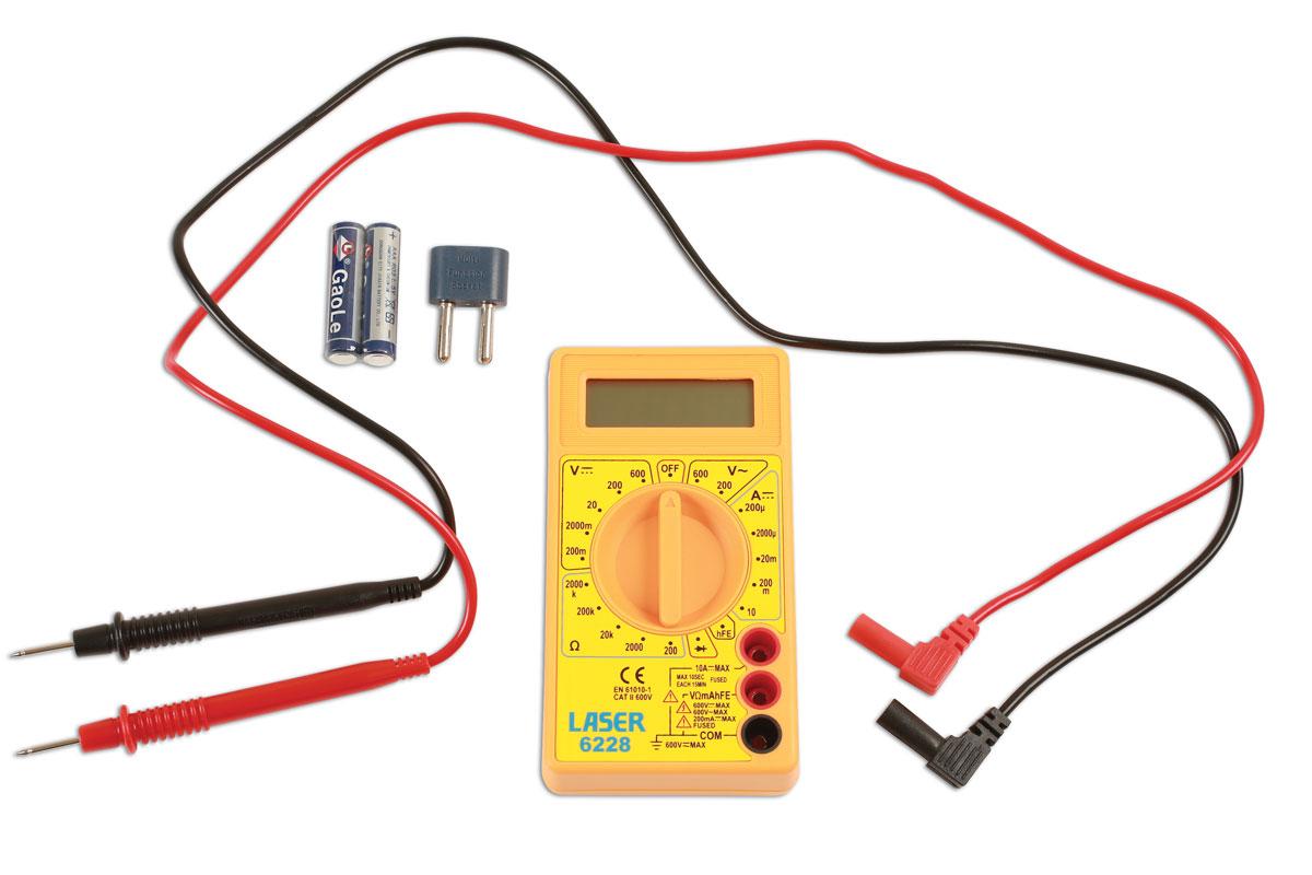 multimeter digital part no 6228 part of the electrical range rh lasertools co uk