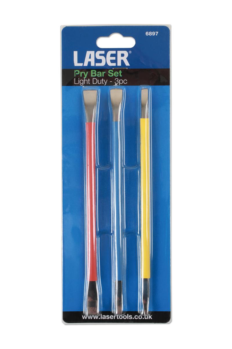 Laser tools 6732 pry bar set 3 pc-light duty