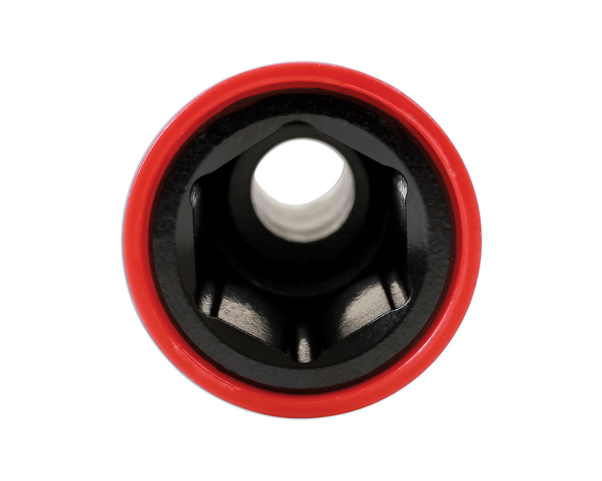Laser 6908 Alloy Wheel Nut Sockets 17 mm x 130 mm Red
