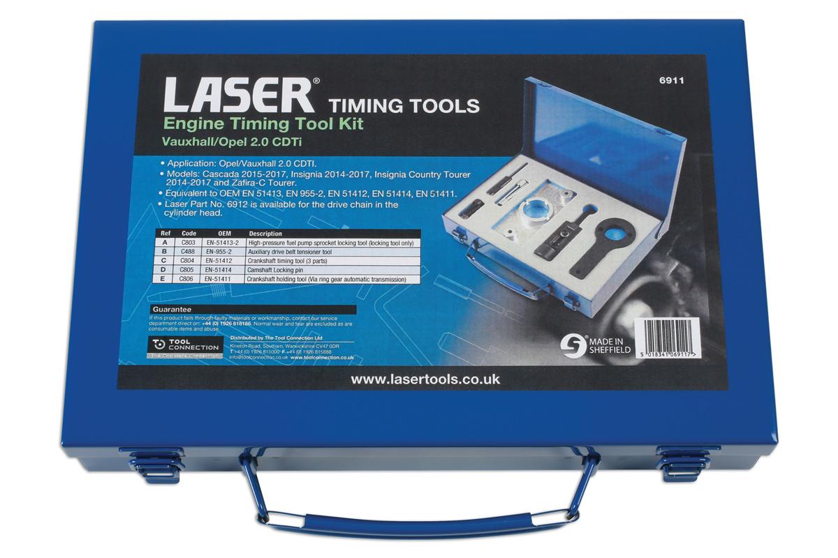 Engine Timing Tool Kit Vauxhall Opel 20cdti Part No 6911 Saab Belt Items Xlarge Packaging Image Of Laser Tools