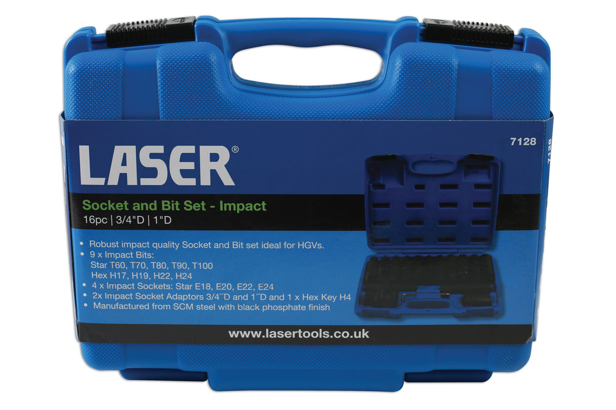 """Laser Outils 4873 impact étoile Socket Set 1//2/""""D 3pc"""