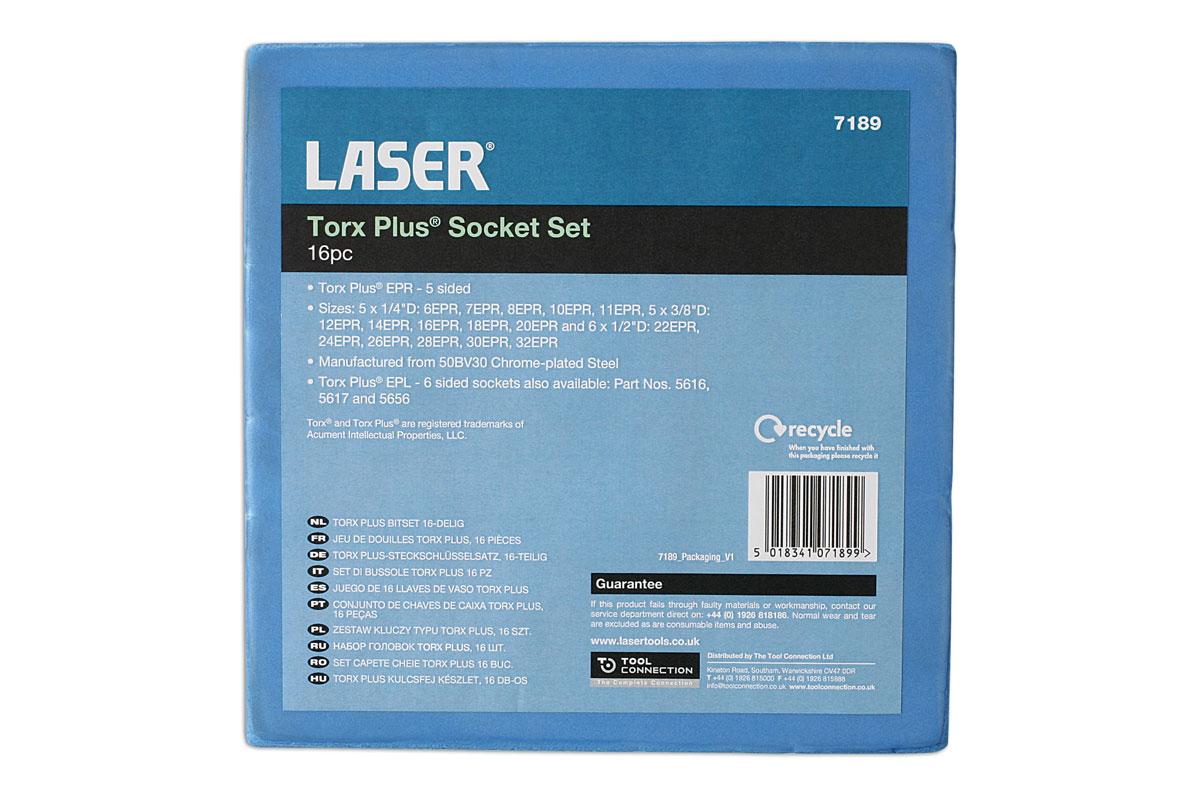Laser Tools-torx Plus EPR de douilles 16pc-7189