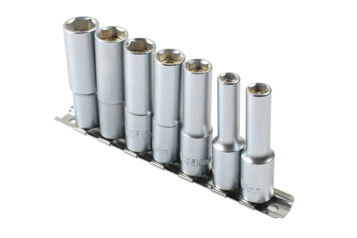 Laser Tools 7783 Magnetic Deep Socket Set 3//8 Drive  7pc